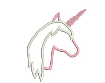Instant download Machine  Embroidery Unicorn head