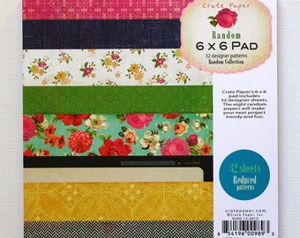 CLEARANCE!  Crate Paper Random 6x6 Paper Pad