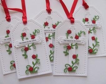 Christmas Gift Tags, Christmas Tags, Reason For The Season Gift Tags, Christmas Hang Tags, Holiday Gift Tags, Christmas Cross Gift Tags