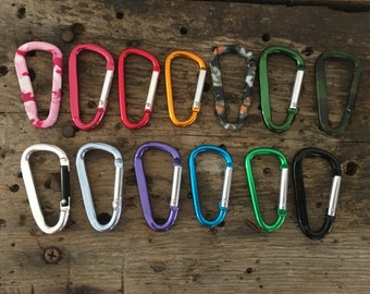 MiniCarabiner Add-On- carabiner upgrade, add a carabiner to your keyring, colored carabiners, mini carabiners, climbing equipment