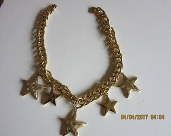 1970's Star Gold Tone Necklace