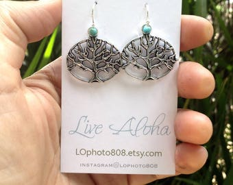 tree of life earrings simple elegant 925 sterling silver french hooks graduation gift for her nature lovers wisdom knowledge gift for mother