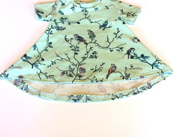 Baby Girl Dress 0/3months , Spring Birds -  Ready to ship
