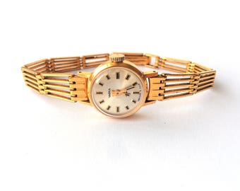 "Gold vintage watch. Soviet watch, Women's watch, Women's soviet watch, Vintage watch, Russian watch, ""Chaika"" 17 jewels, Mechanical watch."