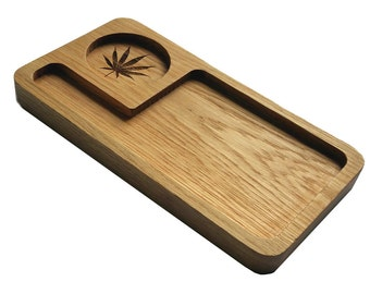 Rolling Tray. Stoner Gift.  Made in the UK from Oak.  For All you Smoking paraphernalia