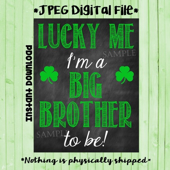 Printable Big Brother Announcement Photo Prop
