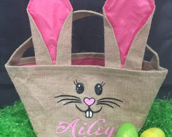 Easter bunny bags: Easter basket, bunny tote, bunny ears