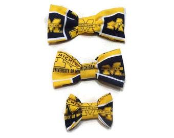 University of Michigan Dog Bow Tie
