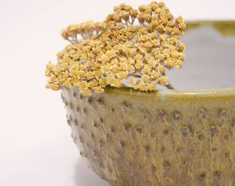 Textured Yellow Cereal or Serving Bowl