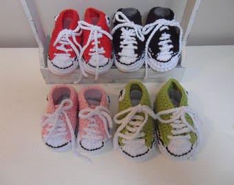Children's (Babies) Crochet Converse Pump, Trainer, Booties, Crib shoes, Sneakers