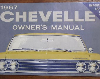 Original 1967 Chevrolet Chevelle Owners Manual - Free Shipping