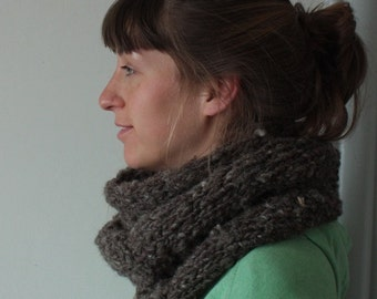 Handspun Woolen Scarf * 100% Irish Wool * thick & warm
