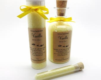 Vanilla Spice Bath Salt, Aromatherapy, Bridesmaid Gift, Mother's Day Gift, Teacher Gift, Aromatherapy Spa Gift, Choose your Size