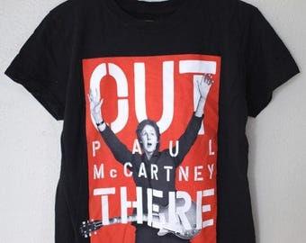 vintage PAUL McCARTNEY tour black t shirt