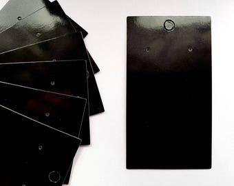 Black Earring Display Cards Plain Jewellery ~ 9cm x 5cm (Gloss)