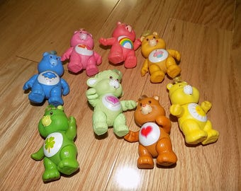Carebear Gentle Heart Lamb Grumpy Lucky Tenderheart Funshine Bear PVC Vintage Carebears Action Figure