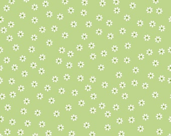 Sew Cherry 2 Daisy Green - C5803-Green by Lori Holt of A Bee in My Bonnet for Riley Blake Designs