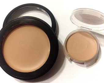 BUFFED BEIGE Perfecting Cream Foundation - Creamy Foundation Concealer Mineral Makeup - Vegan Gluten Free