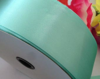 "100 yards, Satin Ribbon, Tiffany blue, 7 widths, 1/4"", 3/8'', 1/2'', 5/8'', 3/4"", 1"", 2''"