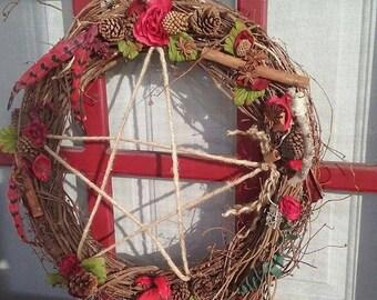 Wreath and Broom Door Beauty.