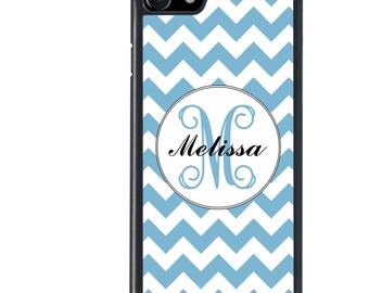 iPhone 5 5s 6 6s 6+ 6s+ SE 7 7+ iPod 5 6 Phone Case, Monogram Chevron Design, Custom Name, Initial, Letter, Plus