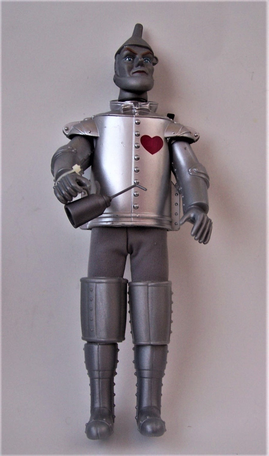 Vintage wizard of oz tin man doll with oil can by for How to make a tin man out of cans