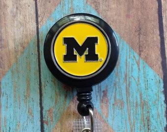 Michigan retractable badge reel