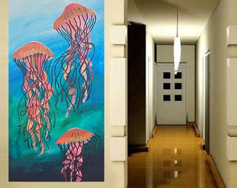"""Giclee Print """"Tres Jellies"""" Painting Canvas Print . Gallery Wrapped"""