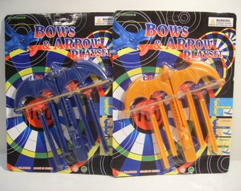 Toy Bow & arrow Set with  4 weapons in 2 different Colors