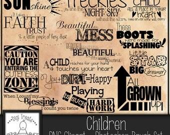 50% OFF~Children's Word Art,  Children, Kids Quotes & Phrases, Scrapbooking, Card making, Photo Overlay Word Art. Instant Download