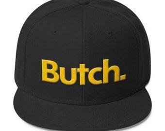 Butch Wool Blend Snapback - Black