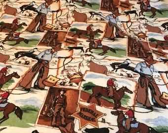 Vintage western themed camp blanket