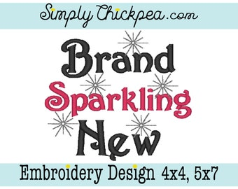 Embroidery Design - Brand Sparkling New - Just for Girls - Perfect for Baby Bodysuits - For 4x4 and 5x7 Hoops