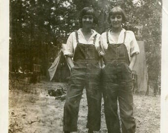 Vintage Photo..Camp Cooks, 1920's Original Found Photo, Vernacular Photography, Paper Ephemera Snapshot