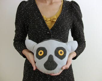 Plush Lemur Doll ~ Stuffed Animal ~ Soft Pillow Creatures