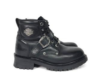 Size US 7 - Vintage Harley Davidson Boots