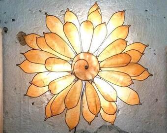 Wall lamp, sunflower