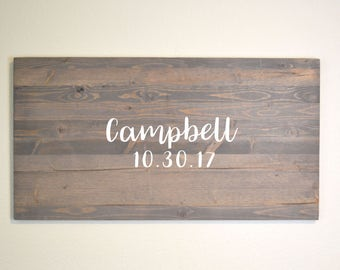Rustic Wedding Guestbook Alternative, Rustic wedding, Guest Book Alternative, Wedding Guest Book, Personalized Guestbook, Wooden Guestbook