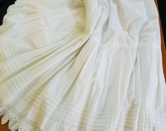 Victorian or Edwardian Double Layer Petticoat  #2