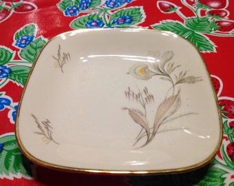 Vintage Seltmann Bavaria floral square porcelain plate