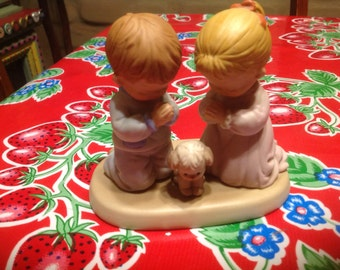 Vintage Enesco hand painted ceramic Joy to You at Christmas figurine- Mabel Lucie Attwell