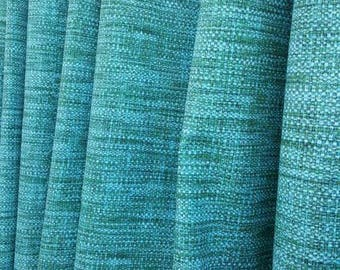 Shower Curtain in Soothing Textured fabric Richloom Indoor/Outdoor Remi Lagoon with Grommets Available in many Sizes
