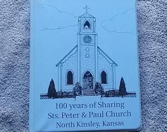 Church Cookbook, Fund Raiser, Saint Peter and Paul, Church, North Kinsley Kansas, Centennial Cookbook, 1893 1993, Community Cookbook  h1
