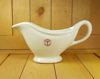 Tepco Vitrified China US Army Medical Department Gravy Boat Pitcher