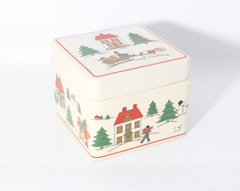 The Joy of Christmas Jamestown China Porcelain Gift Box - Japan