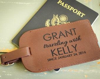 Custom Luggage Tag, Leather Luggage Tag, Personalized Luggage Tag, Custom Address Tag, Travel Accessory, Honeymoon Gift, Destination Wedding