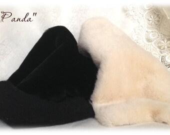 PANDA KIT Italian SYNTHETIC fur plush fabric soft dense pile 9-10 mm 1/8 m teddy bear making supplies