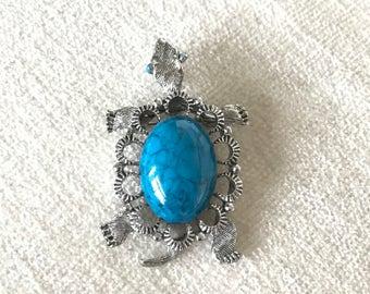 Gerrys turquoise turtle brooch