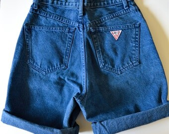 Vintage Guess by Georges Marciano High Rise Fitted Shorts -- Button Fly -- Perfect Fit!