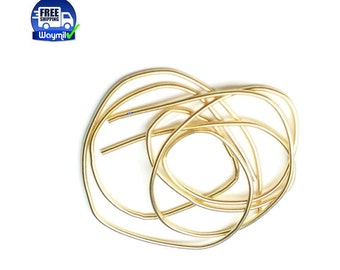 """Gold French Wire Fine 0.7 mm Length 14""""(35.5 cm)  WA 201-001"""
